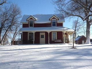 Experience a quiet farm on the St Croix, close to parks, river towns, the city.