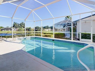 Breezy lakefront home w/ a pool, lush views, close to beaches!