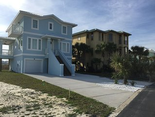 Beautiful New Beach House- 4 BR/4BA W/Bunk Area in Caribbean Isle.  New to VRBO