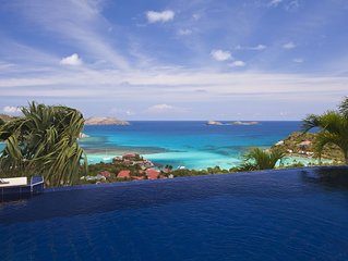 ***** VILLA MYSTIQUE *****, breath taking views in the heart of St. Barths