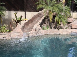 Centrally located in So Cal, Close to attractions, beaches, and our own pool