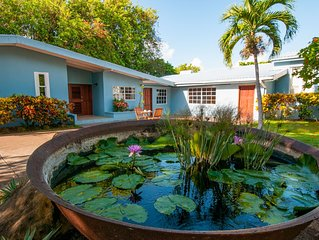 Secluded, Ocean Front Villa with private pool and lush gardens in Fort Jeudy