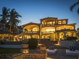 Beach Front - Steps from Exclusive beach at Palmilla Sur, 5 bedrooms Villa