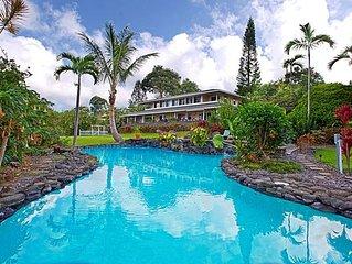 Spectacular Estate 5 Acres, 2 Pools,  Billiards Family Reunion Ocean View
