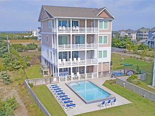 Ultra-Luxurious Oceanfront-Elevator, Pool, HotTub, Theater+Game Rms, DogFriendly