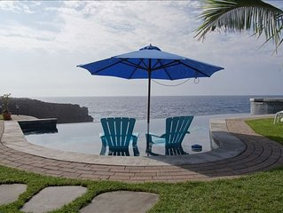Oceanfront Home with Infinity Pool and Spa 'The Cove at Milolii'