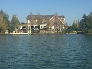 2015 built superb home on sand bottom Elk Lake
