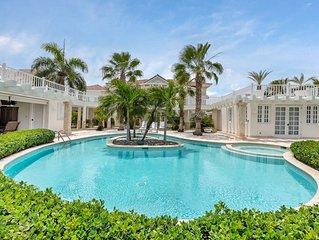 Villa Blanca: Luxury villa near beach with gourmet chef, butler, maid & pool.