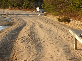 A Year Round Luxury Home With A Large Private Beach on Sebago