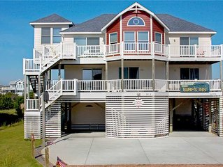 Surfs Inn  OCEANVIEW in Avon w/Htd Pool&HotTub, Elevator, RecRoom