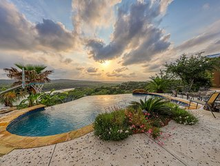 Lake Travis Waterfront with Resort Style Pool and Million Dollar Views.