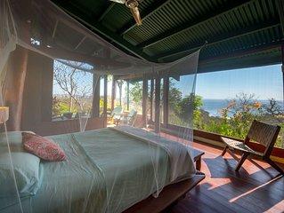 Casa Tranquila- Jungle Luxury with ocean views above Playa Maderas