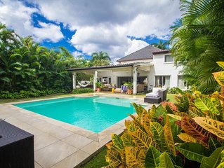 A luxurious 5-bedroom villa located within a walking distance to the beach.