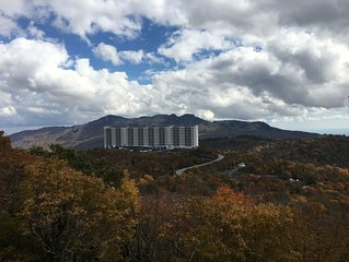 Deluxe Condo, Sleeps 6 with Spectacular Views of Grandfather Mtn.