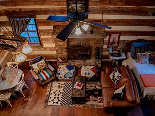 Hill Country Log Cabin