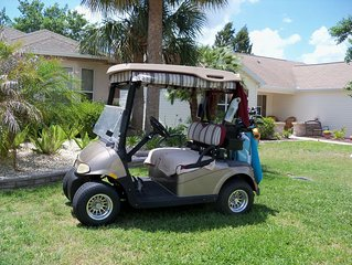 Bob's 3/2 house in The Villages. Golf cart included. Nature Preserve in back