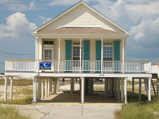 The first house on the beach....welcome to charming Island Cottage