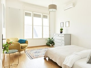 Top floor two bathroom apartment in the city center,  100 sqm