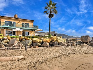 Stunning Oceanfront 4BR w/ Private Patio & Decks - 15 Mins to Santa Barbara