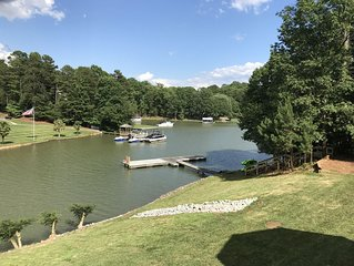Beautiful lakefront home with private dock, firepit, paddleboards, and kayaks