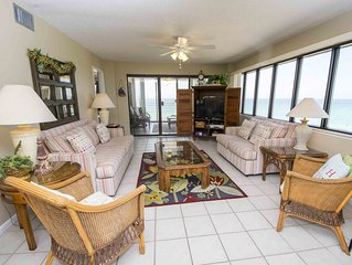 Panoramic Beach Views with Sun Room and Private Balcony! Onsite Amenities for Ev