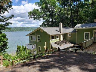 Beautiful Ithaca Lake House with Spectacular Views, Private Beach & Docks