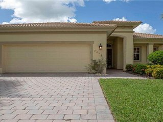 3 BR/3BA Lovely Home with Pool/Spa in Ft. Myers, FL., Gated Verandah Community.
