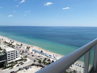 Hilton Ft Lauderdale Beach Resort - 22nd Floor Fabulous Views - large balcony.