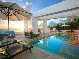 Villa Tasha,  a luxury seafront vacation villa in Anguilla on the Caribbean sea