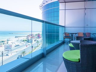 Luxury 1 BR Beach Apartment with Full Sea View