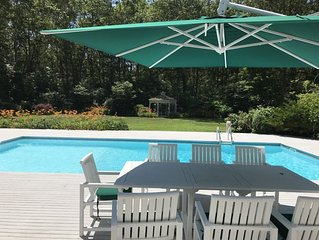 A writer's home minutes from ocean, convenient to Sag Harbor & Bridgeh.