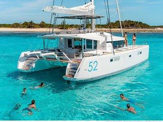 Lagoon 52 ft  Luxury Sailing Catamaran.