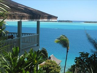 Splendid Villa Overlooking the Lagoon of Bora Bora.  Honeymooners & Families