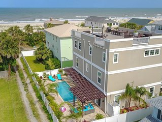 Sol Mate- 6 Bed 4.5 Bath Pool & Rooftop Home On The Beach