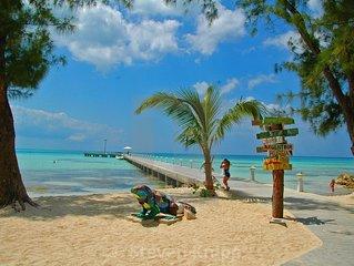 Sandbar Beach Island House , steps from Rum Point, FREE kayaks, bikes, WIFI