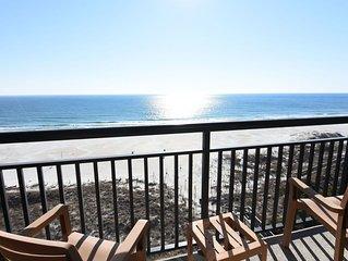 Shell 807 - Beautiful oceanfront 8th floor condo. Oceanfront, sleeps 4.