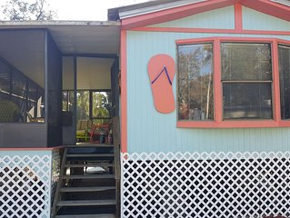 The Flip Flop House at B's Marina & Campground on the withlacoochee river