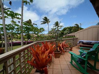 Spacious, upstairs apartment with very large deck, walking distance to beach