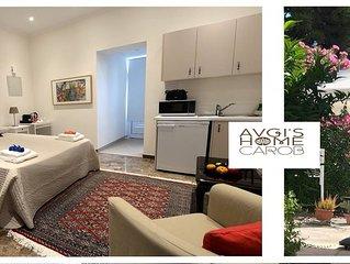 'CAROB STUDIO GARDEN APARTMENT' at 'AVGI'S HOME'