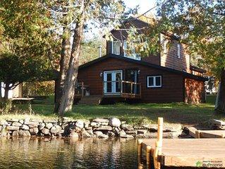 4 seasons lakefront cottage for rent  - Laurentides