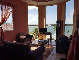 See Belize 2-BR Penthouse with incredible panoramic Caribbean Sea & River views!