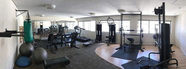 Dans la salle de gym