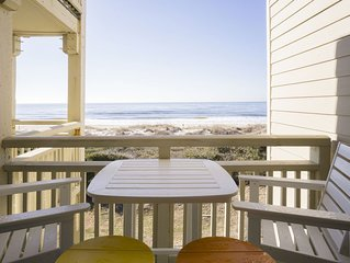 Thirsty Mango: 3 Bed/2 Bath Oceanfront Condo on Caswell Beach with Community Poo