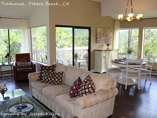 Pebble Beach Tree House - Views of the Ocean, Vaulted Ceilings, Close to Everyth