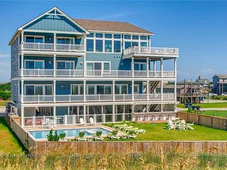 Relax in Oceanfront Luxury- Elevator, Pool, Tiki Bar, Hot Tub, Theater+Game Rms