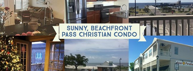 Sunny Beachfront Pass Christian Condo: Private balcony overlooking Gulf