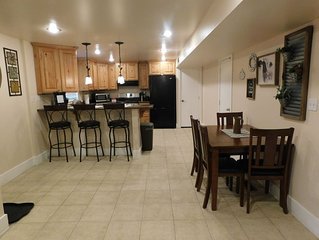 2 bedroom apartment separate entrance. close to BYU, MTC and Provo temple.