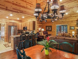 Ski Crystal Mountain!  Secluded custom log home!  Open, airy w/fireplace-Quiet