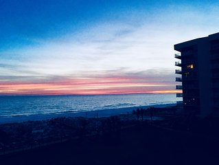 ON THE BEACH ,PLATINUM RENOVATED, VIEW GULF FROM BOTH LIVING/BD/ BALCONY.