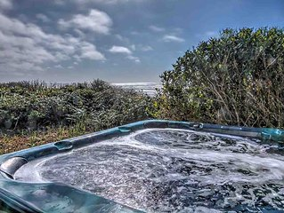 Ocean Front Home With Hot Tub On Miles Of Sandy Beach! FREE NIGHT!